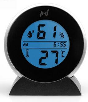 408ca92fcfa Venda quente maravilhoso portátil Geral interior e exterior Higrômetro  eletrônico termômetro Mieo relógio qy076