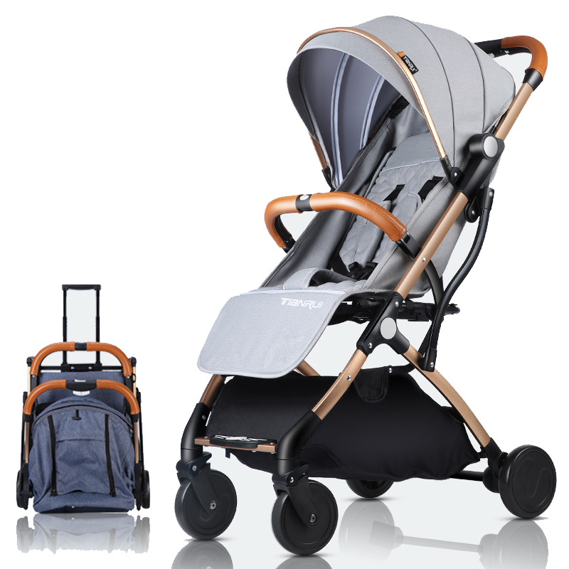 Baby Stroller Lightweight Aluminum Alloy Baby Carriage Portable Travelling Pram Can Take Plane Push Trolley Umbrella Cart 0-3Y