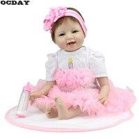 OCDAY 22 Inch 55 Cm Handmade Reborn Dolls 5 Styles Realistic Soft Silicone Baby Dolls Kids