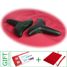 Good quality! wholesale & retail Traditional Bian Needle therapy black bian stone massage cone (100x80x16mm)