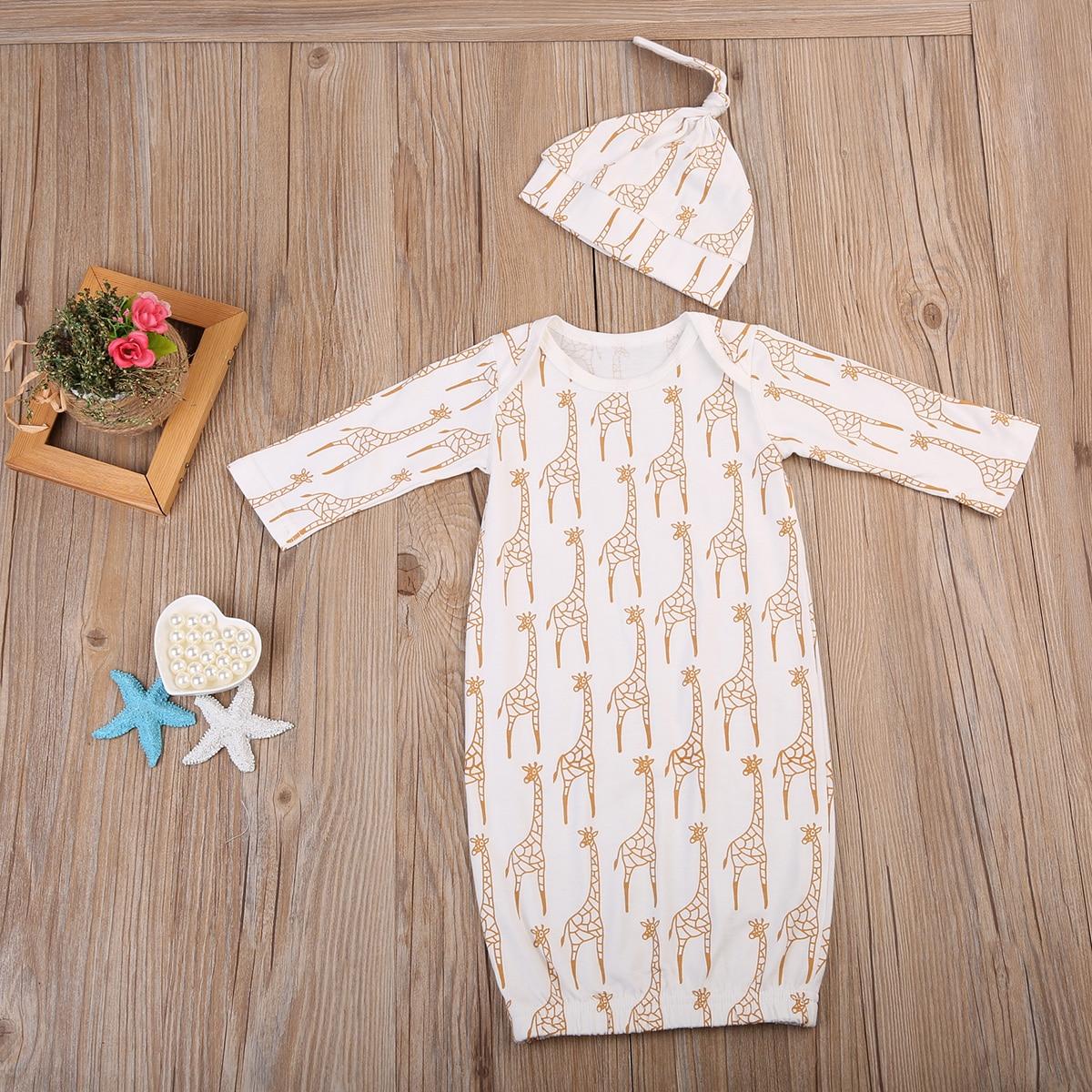 Super Cute Babies Deer Clothing Newborn Baby Girl Boys Long Sleeve Romper Sleeping Bag Pajamas Clothes