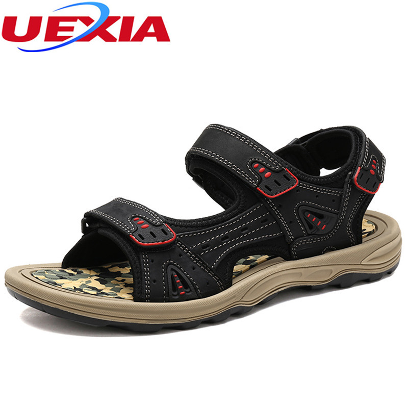 leather Sandals Summer Casual Mens Shoes Outdoor Beach Zapatos Masculino Breathable Comfortable Cozy Fashion Flats Men Sandal