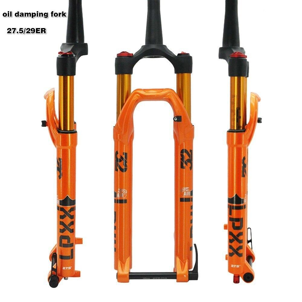 Bicycle Fork 27 5 29ER Oil Gas Cone Inch Fork MTB Mountain bike Suspension Rebound Adjustment