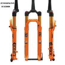 лучшая цена Bicycle Fork 27.5 29ER Oil Gas Cone Inch Fork MTB Mountain bike Suspension Rebound Adjustment oil damping fork