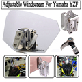 Universal Airflow Adjustable Bolt-On Variable Spoiler Windscreen For Yamaha YZF R1 R6 R25 R3 TMAX530 FJR