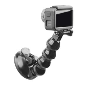 Image 3 - Black Car Bracket Holder Suction Cup Adapter Driving Recorder Ball Head Tripod for DJI Osmo Pocket Action Camera Accessories