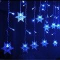 Модернизированный 216 шт./96 шт. LED Сосулька Занавес Свет Рождество Свет Шнура СИД Фея Света Гирлянда Свадьбу Новый год Декор 220 В