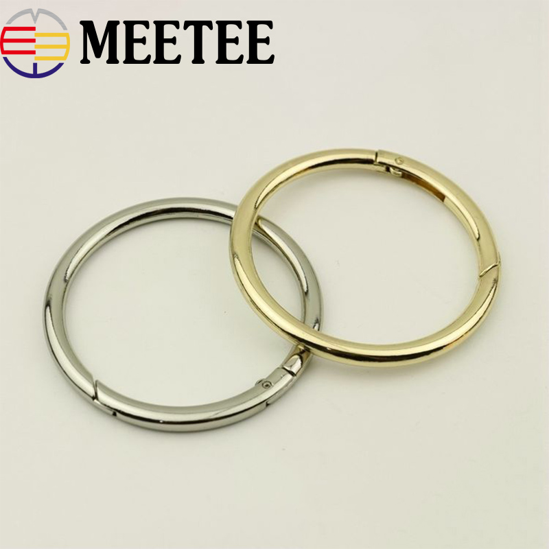 5Pcs Openable Spring O Ring Buckle Belt Strap Metal Buckles For Bag Dog Collar Key Chain Snap Clasp Clip Trigger DIY Crafts