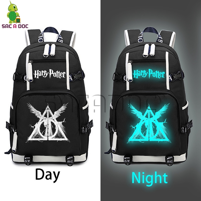 Harry Potter Luminous Backpack The Dark Lord Hogwart Canvas Backpack For Teenagers Boys Girls Travel Bag Daily Laptop Backpack
