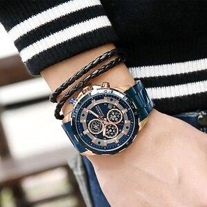 Image 2 - العلامة التجارية الفاخرة للرجال CURREN موضة جديدة ساعات رياضية غير رسمية رجالي كوارتز سوار فولاذي غير قابل للصدأ ساعة اليد الذكور Reloj Hombres
