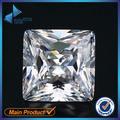 50 Pcs Forma Quadrada do Corte Da Princesa 5A 3x3-15x15mm Gemas Sintéticas Cúbicos de Zircônia CZ Pedra Branca Para Jóias