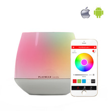 PLAYBULB Electric Candle LED Flameless RGB scented Romantic Tea light Flashlight Colored Glitter battery operated Candles Holder