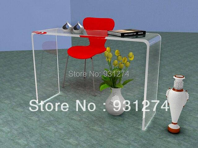 Watetfall Acrylic Vanity Console Table,Lucite Corner Desk ...