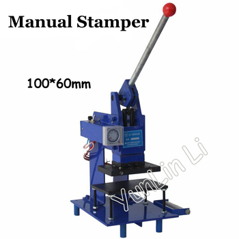 Manual Hot Foil Stamping Machine Manual Stamper Leather Embossing Machine with Printing Area 100*60mm