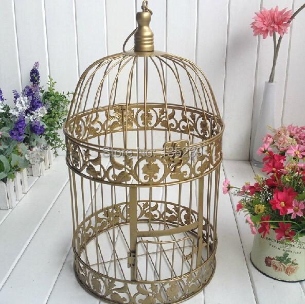 Золотая железная птичья клетка Свадебные Визитницы Mariage центральные украшения для столов Свадебные украшения держатель для карт