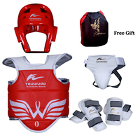 Taekwondo protector 5pc children adult head foot protection boxing sports
