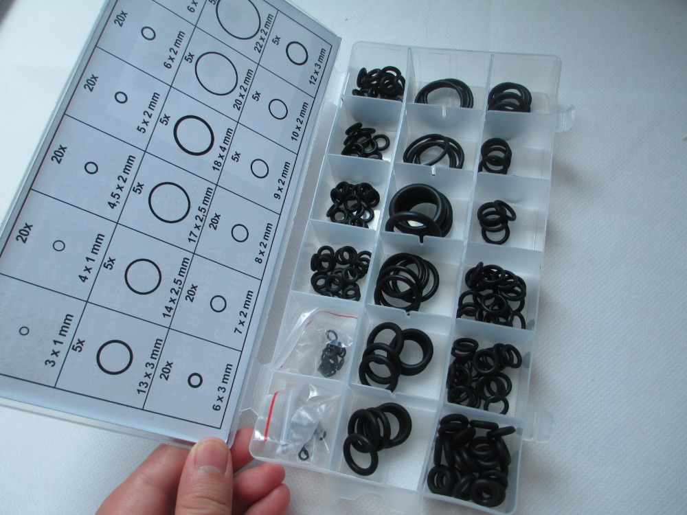 225PC O type ring set / sealing ring nitrile rubber O ring oil resistant type 0 ring set(included pvc box) 10pcs lot 9x5x2 mm o rings rubber sealing o ring 9mm od x 2mm cs