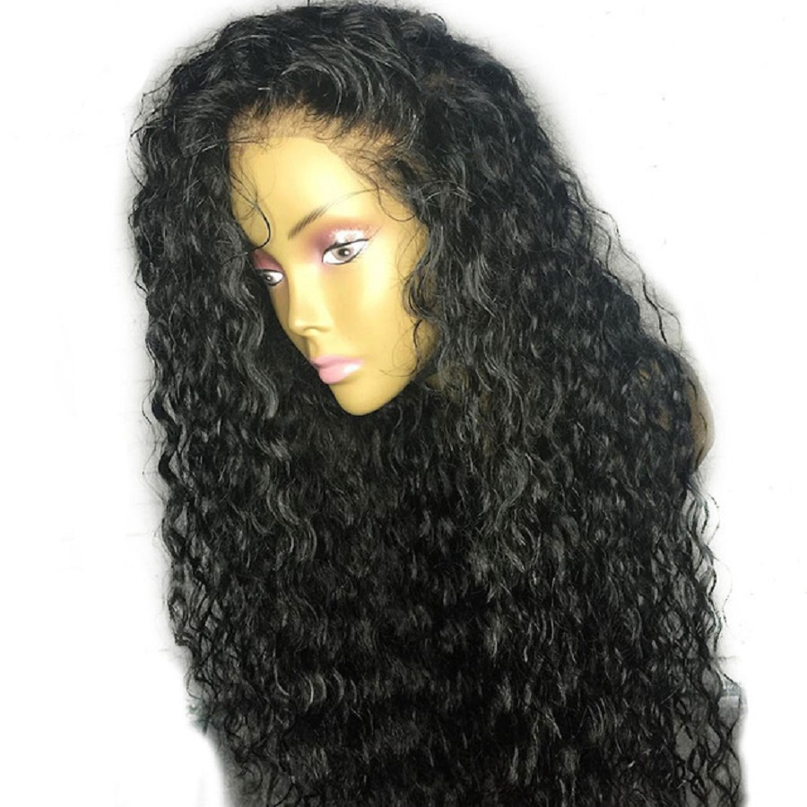 180% Density Short Curly Full Lace Wig Pre Plucked Brazilian Remy Human Hair Lace Wig With Baby Hair For Women Pre Plucked Favor Low Price Hair Extensions & Wigs Human Hair Lace Wigs