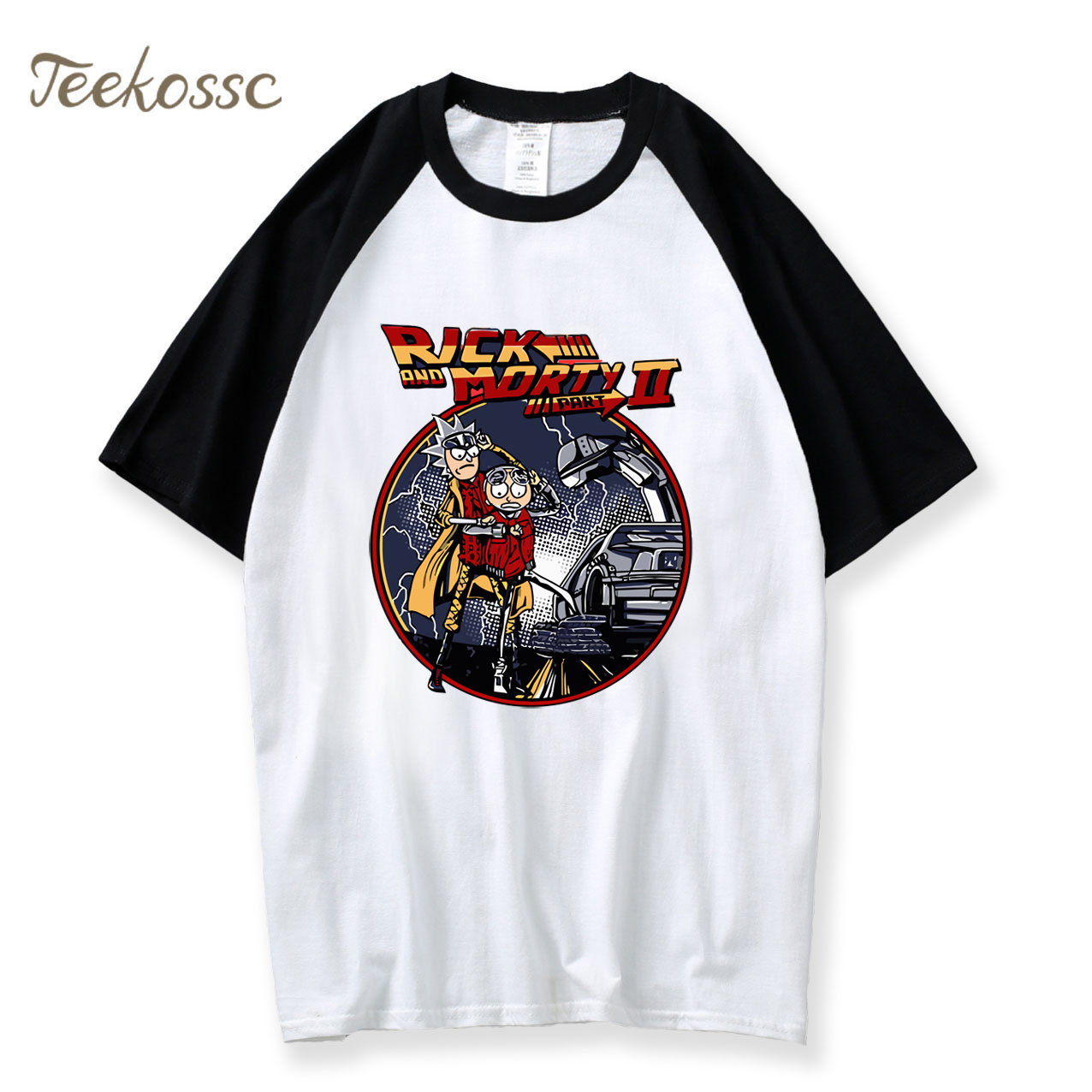 Back To The Future T Shirt Men Rick and Morty Tshirt Anime Tshirts 2018 Summer Top Tee Movie White Funny T-Shirt Camiseta Hombre