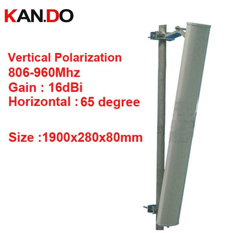 1.9 m long 16dbi polarisation verticale 65 degrés 806-960 Mhz panneau antenne GSM Base station utiliser antenne CDMA GSM antenne FDD LTE