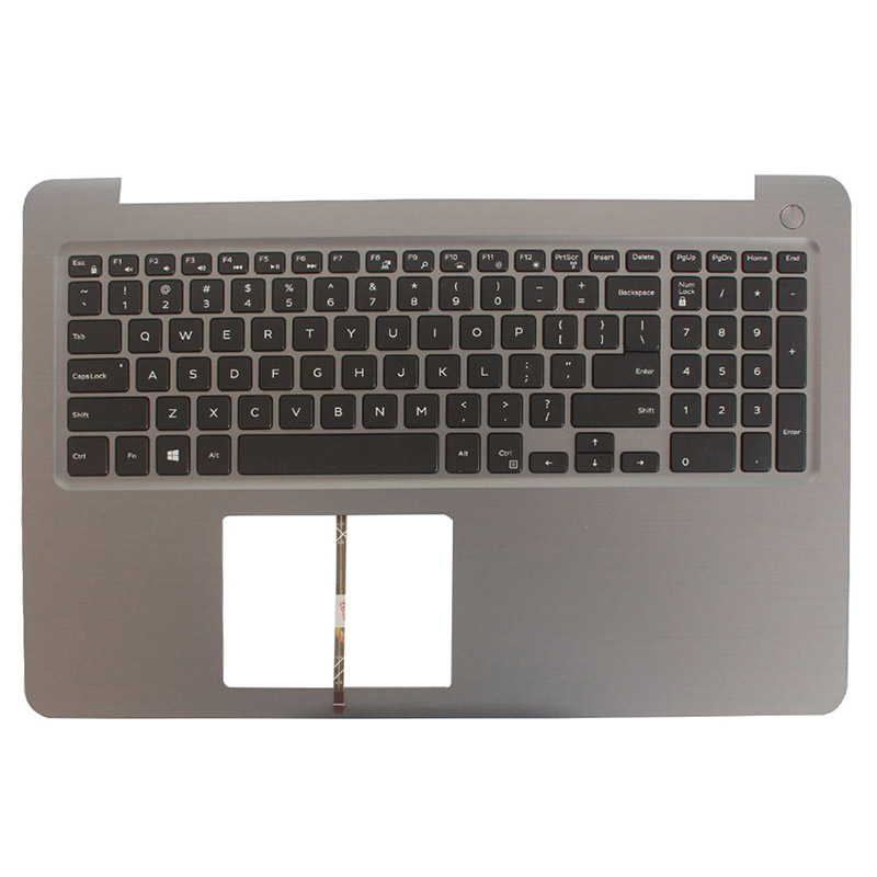 100% NEW US Laptop Keyboard For DELL INSPIRON 15 5565 5567 With Palmrest Upper Cover Backlit Keyboard Gray Frame