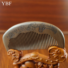 Wood Massage Relaxation Lotus Thickening Old Peach Wooden Hair Combs HairBrush Ys Park Peine Plancha Pelo Hairdressing Fine Cut
