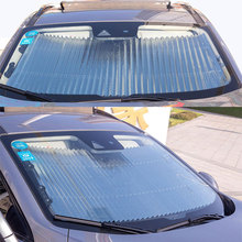 O SHI CAR Car Windshield Sun Shade,Retractable Sunshade, Easy to Install and Use, Universal Sunshades Keep Your Vehicle Cool