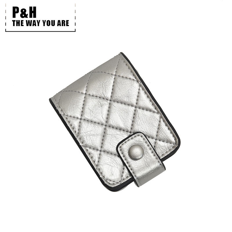 Pat&hap 2019 New Fashion Lipstick Holder Plaid Ladies Cosmetic Bag With Mirror Makeup Case Ladies Girl Make Up Bags Fix Box