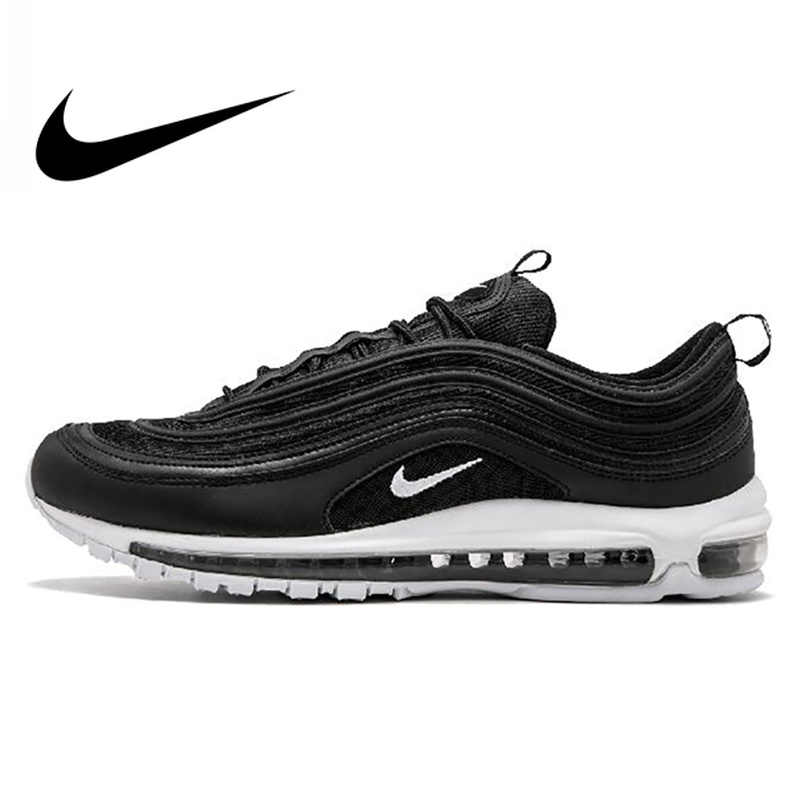 newest 2c728 51524 Original Official Nike Air Max 97 Men s Breathable Running Shoes Sports  Sneakers Men s Tennis Classic Breathable