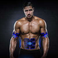 Fitness EMS Exercise Equipment Wireless Muscle Training Stimulator Device Abdominal Trainer Portable Body Slimming Massager