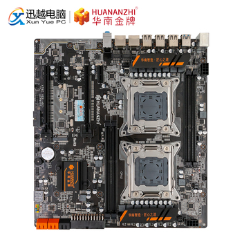 HUANAN Чжи X79-4D Двойной материнская плата для Intel LGA 2011 E5 2680V2 DDR3 1333/1600/1866 МГц 128 GB PCI-E SATA3 USB3.0 E-ATX