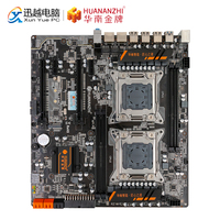 HUANAN ZHI X79 Dual CPU Motherboard For Intel LGA 2011 E5 2680V2 DDR3 1333/1600/1866MHz 128GB PCI E SATA3 USB3.0 E ATX Mainboard
