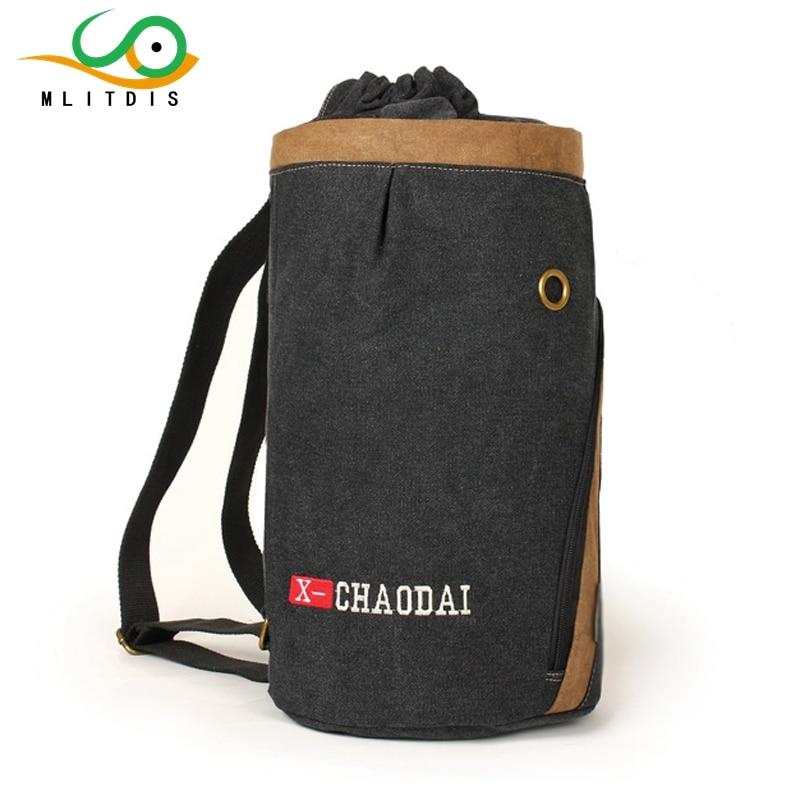 ФОТО MLITDIS 2017  leisure travel canvas  female male drum internal interval zipper Backpack Travel