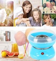 Electric DIY Sweet Cotton Candy Maker MINI Portable Cotton Sugar Floss Machine Girl Boy Gift Children's Day 220V EU HWC