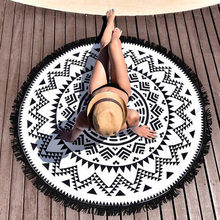 Quality 150CM Round Tapestry Beach Throw Roundie Mandala Towel Yoga Mat Bohemia for beach swimming Towel drop ship(China)