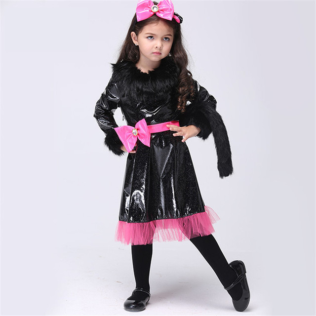 Kids Halloween Cat Witch Girl Fancy Dress 2017 Newest Halloween Performance Clothing Cute Bow Cat Girl  sc 1 st  AliExpress.com & Kids Halloween Cat Witch Girl Fancy Dress 2017 Newest Halloween ...