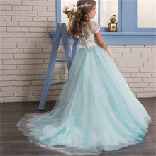 Winter Clothing Kids Long Graduation Dresses for Girls Floral Ball Gown Christmas Prom Wedding Dress Elegant Girl Birthday Dress floral girls ball gown dress luxury kids girl wedding clothing birthday party communion banquet vestidos appliques dresses s183