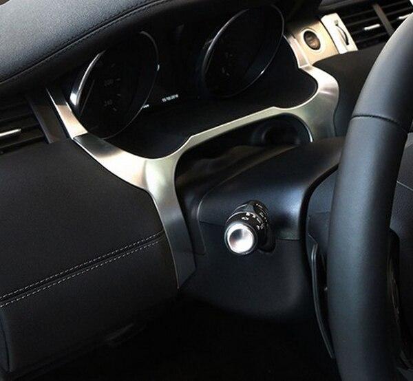 Chrome Car Interior Front Dashboard Edge Cover Frame Trim For Range Rover Evoque 2012 2018 Accessories