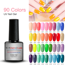 T-TIAO CLUB 7ML Pure Gel Nail Polish Soak Off Art Led Varnish Semi Permanent Manicure UV Lacquer