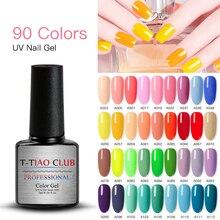T-TIAO CLUB 7ML Pure Gel Nail Polish Soak Off Nail Art Led Nail Gel Va