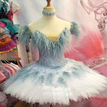 Sparkling Sequin Crystal Tassel Ballet Costume Professional Ballet Tutu,High Quality Ballet Dress Ballet Clothes Custom Made фото
