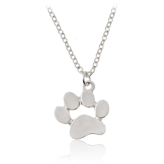 Mini paw pendant necklace silver rose gold animal pet dog paw mini paw pendant necklace silver rose gold animal pet dog paw necklaces for women men dog mozeypictures Images