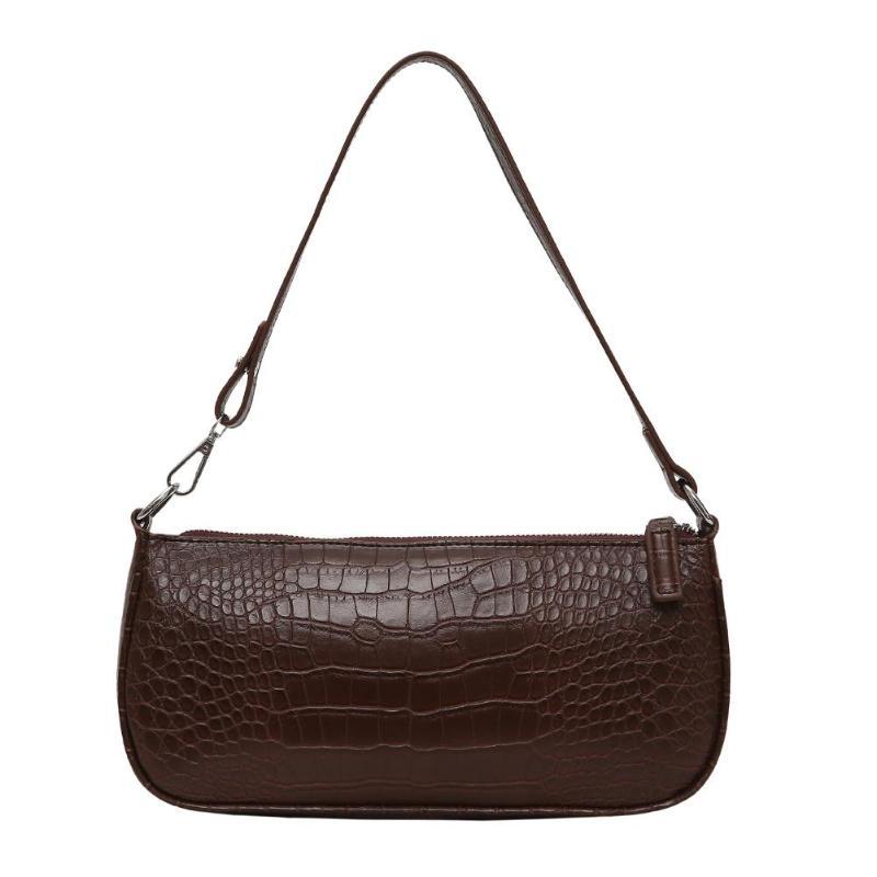 Retro Alligator Pattern Women Messenger Flap Handbags 2019 New PU Leather Street Casual Solid Zipper Shoulder Bags Bolsas Mujer