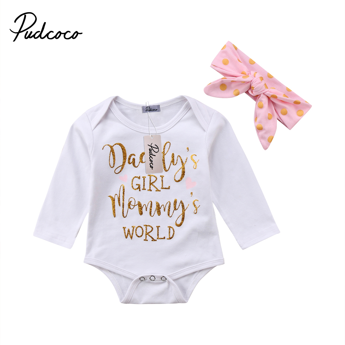 Cute Baby Clothing Infant Newborn Baby Girl Cotton Long sleeve Romper Jumpsuit Baby Girls Outfit Set Clothes 0-2T