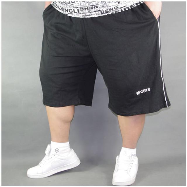e1d59b9a4 Grande Tamanho Dos Homens Shorts Homens Sólidos Baggy Solto Calções  Elásticos de Algodão casuais Calções Plus