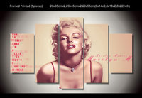 Modern Decorative Picture Printed Marilyn Monroe 5 Piece Painting Wall Art Children S Room Decor Poster