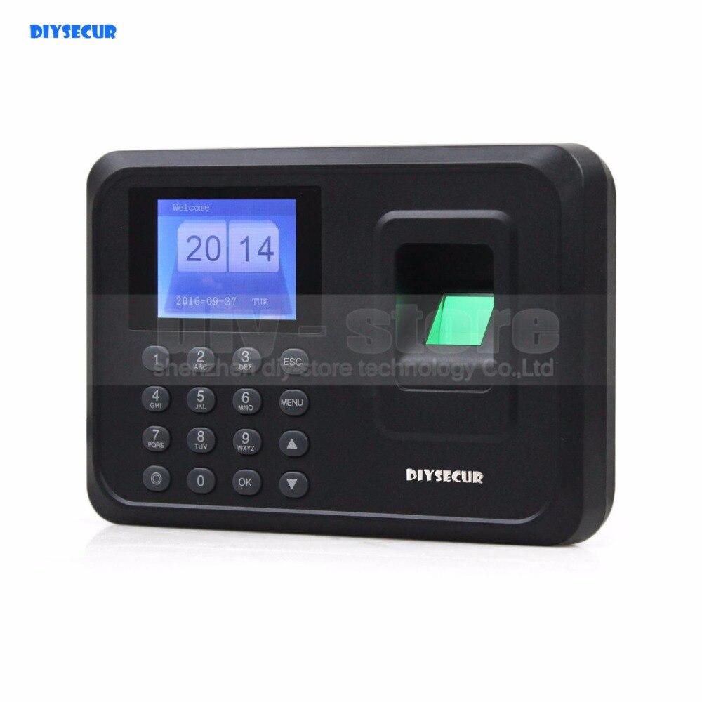 DIYSECUR LCD Biométrique D'empreintes Digitales Horloge Temps de Présence Machine