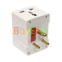 India Sri Lanka 3 Multi Outlet Type D Wall Socket Power Plug Adapter AC Masterplug