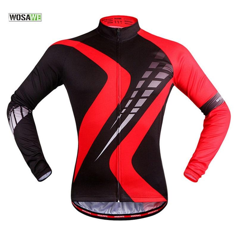 WOSAWE Cycling Sets MTB Breathable Long Sleeve Sportswear Bicycle Jersey Set Spring Summer 3D Gel Padded Cycling Pants Clothing wosawe men long sleeve cycling jersey 4d gel padded tights