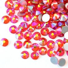All Sizes Orange AB Hyacinth AB Non Hotfix Rhinestones Flatback Glass Crystal  Rhinestone Nail Art For 6ca56c4400c8